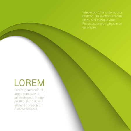 enumeration: Stylish modern corporate green background enumeration numbering report template mockup. Place your text and logo. Templates collection. Illustration