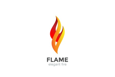 Fire Flame Logo abstract design vector elegant Fashion Jewelry template.
