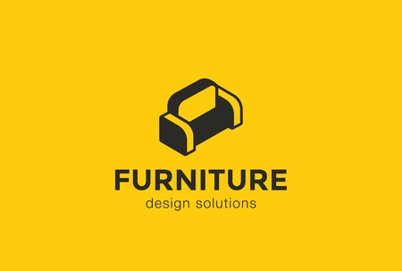 divan sofa: Furniture Divan Sofa  design silhouette vector template