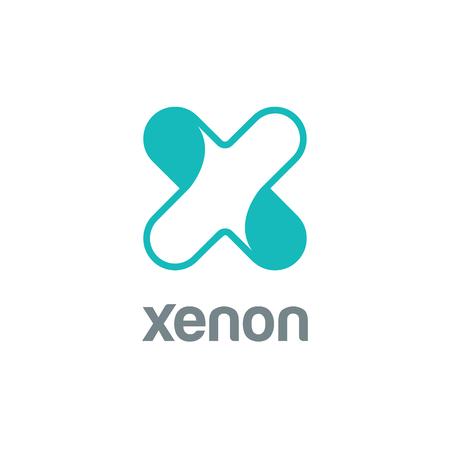 Lettre X Logo de modèle de vecteur de conception. Logotype Font