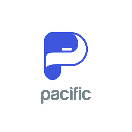 twisted: Letter P Logo design vector template.  Font Logotype