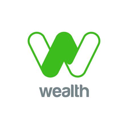Letter W Logo design vector template. Font Logotype Logo