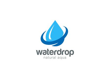 Water drop Logo design vector template. Natural Mineral Aqua icon.  Waterdrop liquid Oil Logotype concept icon.