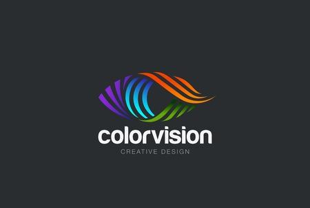 Eye wektora projektowania szablonu. Kolorowe ikony mediów. Wizja Koncepcja pomysł. Ilustracje wektorowe