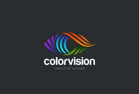oči: Oční provedení vektorové šablony. Barevné ikona média. Vision koncept nápad. Ilustrace