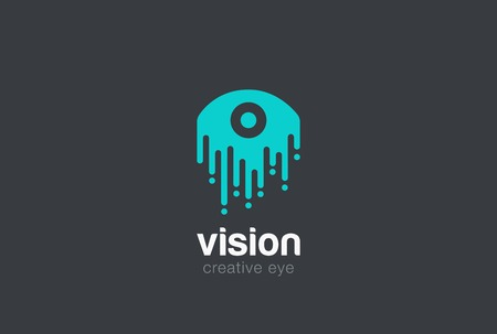 drop: Eye drop Logo design vector template  Vision abstract Logotype concept silhouette icon