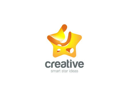 entertainment icon: Gold yellow Star abstract  design vector template splash style.. Award, Winner, Leader symbol . Entertainment icon Illustration