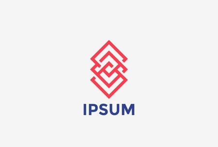 signo infinito: Logotipo de lujo Infinity Loop forma abstracta plantilla de diseño vectorial. Cuadrado rombo símbolo infinito bucle concepto de logo icono