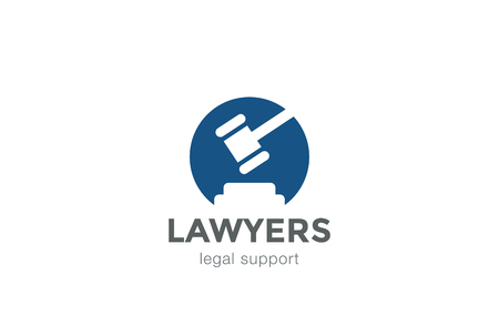 legal law: Lawyer Attorney Legal Law firm  design vector template Negative space. Circle shape Judge  concept icon