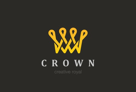looped: Crown abstract   design vector template. Creative Vintage Looped   concept icon.