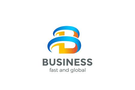 B Logo Letter abstract ontwerp vectormalplaatje. Creatief symbool. Universe logo voor opstarten van bedrijfstechnologie Stock Illustratie