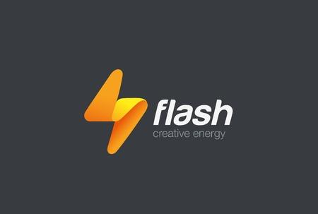 Modello di logo di disegno astratto di Flash Logo. Illuminazione bullone Concetto di logo Icona di energia velocità veloce.