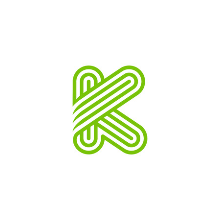 Creative Letter K Logo design vector template Linear. Type Character Symbol Logotype Illustration