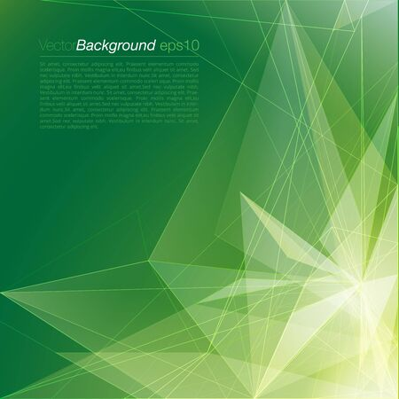 site backgrounds: Stylish green modern polygonal triangular light beam colorful attractive corporate company business document background template. Web site elements backgrounds collection.