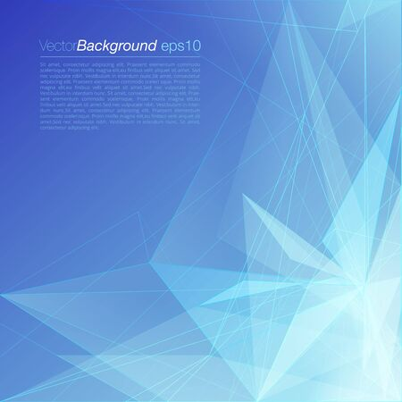site backgrounds: Stylish blue modern polygonal triangular light beam colorful attractive corporate company business document background template. Web site elements backgrounds collection. Illustration