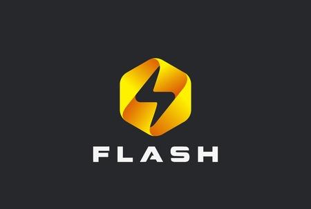 energia electrica: Flash logotipo resumen de diseño de plantilla vector. Iluminación icono de cerrojo. Trueno electricidad de energía concepto de logo velocidad rápida