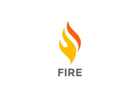 Fire Flame abstract ontwerp vector template. Burn icoon. Energy vreugdevuur zakelijke technologie-concept