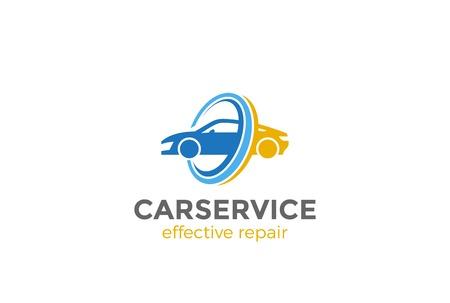 車のロゴの抽象的デザイン ベクトル テンプレート。  車両の修理サービス ロゴ コンセプト アイコンを洗浄
