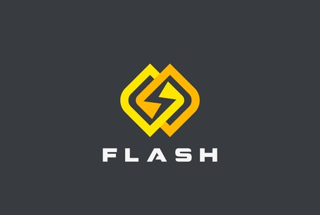 electric power: Flash  design vector template. Energy Power Speed concept icon Illustration