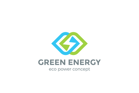 green technology: Green Energy Infinite design vector template. Power speed concept icon