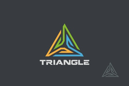 Triangle Logo abstract design vector template.