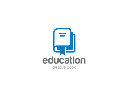 Book Logo Education abstract design vector template.  Library, knowledge, publishing, literature Logotype concept icon Illustration