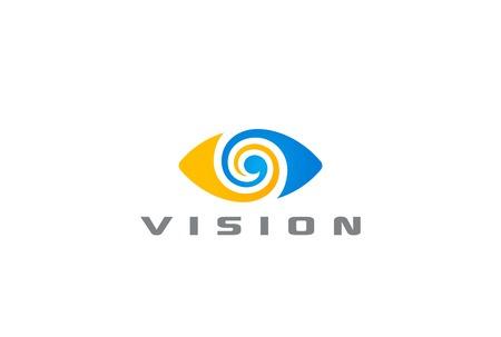 ojo: Logo ojo visión abstracta del logotipo plantilla vector. Óptica investigación clínica concepto de logo icono Vectores