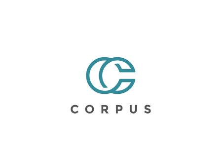 Modèle de lettre C Logo Monogram design vectoriel Style linéaire. Corporate Business Luxury Fashion Logo de concept de logo