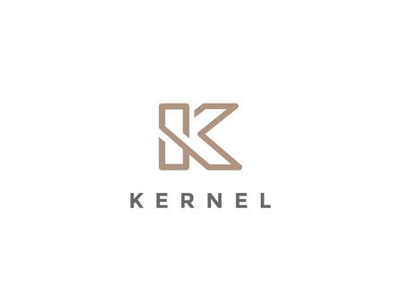 Letter K Logo Monogram design vector template Linear style. Corporate Business Luxury Fashion Logotype concept symbol