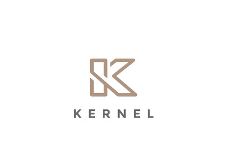 Letter K Logo Monogram design vector template Linear style.  Corporate Business Luxury Fashion Logotype concept symbol Ilustração