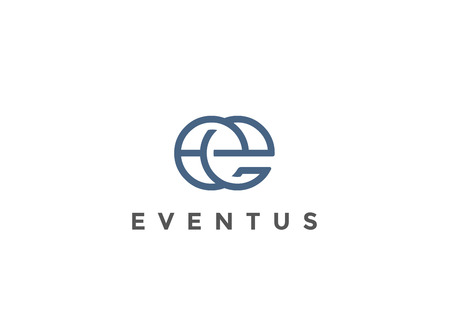 Letter E Logo Monogram design vector template Linear style.  Corporate Business Luxury Fashion Logotype concept symbol