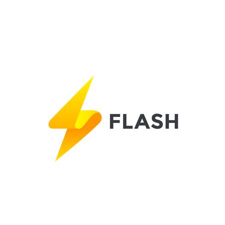 Flash Logo design vector template. Thunderbolt symbol. Energy Power electric speed creative Logotype concept