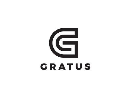 Letter G Logo Luxus-Design-Vorlage Vektor Linear. Typ-Charakter-Symbol Signet Standard-Bild - 69594556