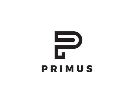 Letter P Logo Luxury design vector template Linear. Type Character Symbol Logotype