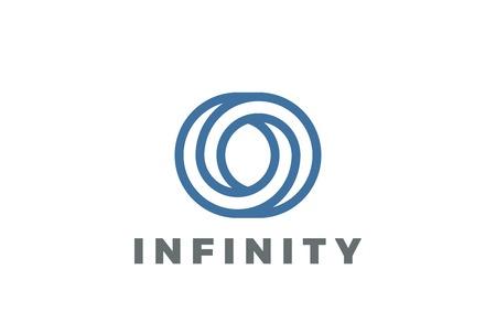 O letter Logo infinite shape design vector template Linear style