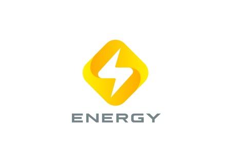 thunderbolt: Flash Logo square rhombus design vector template. Thunderbolt symbol.  Energy Power electric speed creative Logotype concept