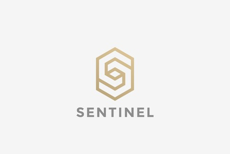 S letter Corporate Business geometric impossible abstract Logo design vector template Linear style.