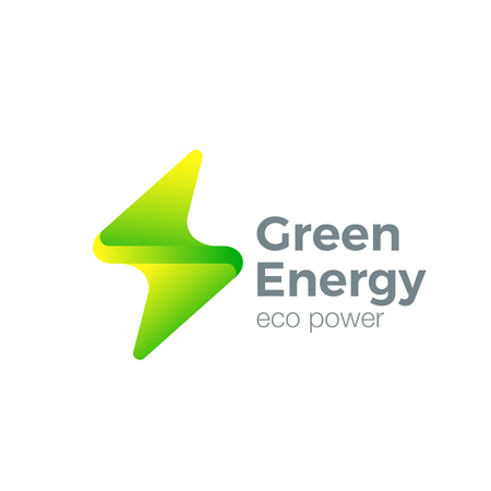lightening: Flash design vector template. Thunderbolt symbol. Green Energy Power electric speed creative concept