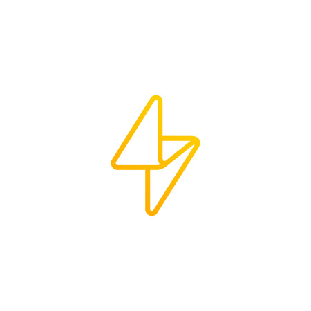 Flash Logo Linear design vector template. Thunderbolt symbol.  Energy Power electric speed creative Logotype concept