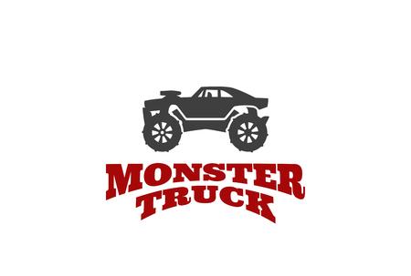 extreme sports: Monster truck Logo design vector template