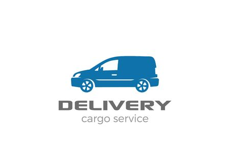 delivery icon: Delivery van car Logo design vector template.  Cargo Auto Vehicle silhouette Logotype icon