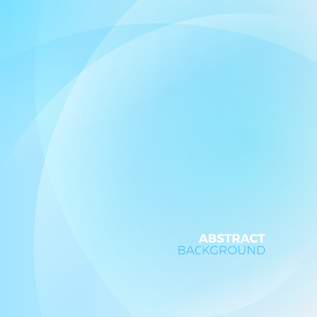 Blue stylish abstract vector background with empty copyspace to enter your text. Curvaceous lines with blur gradient effect.