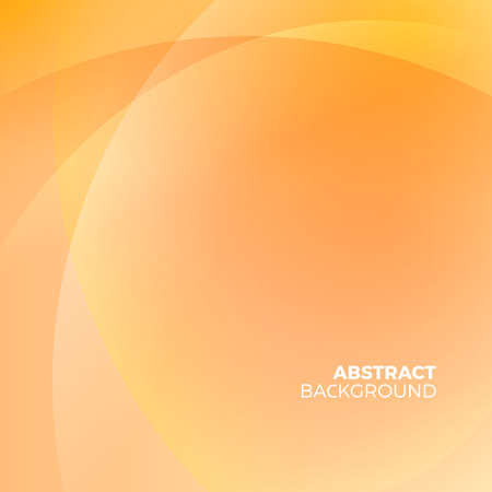 Orange stylish abstract vector background with empty copyspace to enter your text. Curvaceous lines with blur gradient effect. Illustration