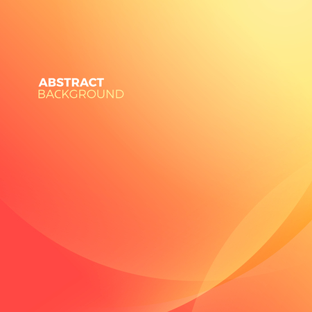 blur effect: Orange stylish abstract vector background with empty copyspace to enter your text. Curvaceous lines with blur gradient effect. Illustration