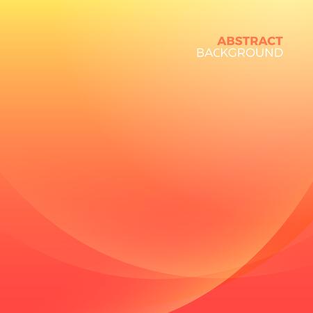 テキストを入力する空の copyspace とオレンジ色のスタイリッシュな抽象的なベクトルの背景。曲線美ラインぼかしグラデーション効果です。  イラスト・ベクター素材
