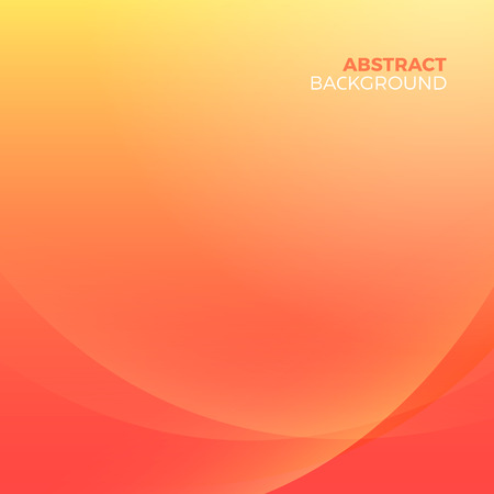 Orange stylish abstract vector background with empty copyspace to enter your text. Curvaceous lines with blur gradient effect. Illusztráció