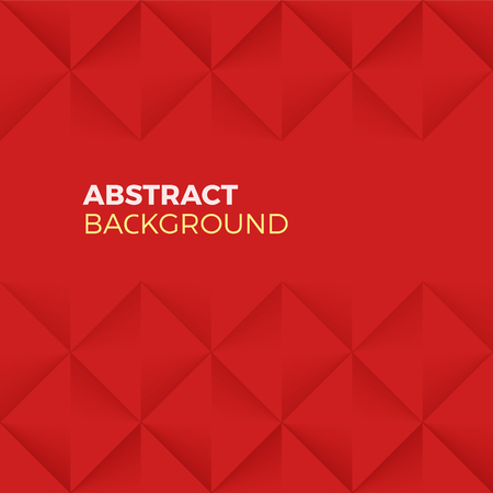 textured effect: Red Abstract Shape and Textured vector Background with empty Copyspace to enter your text. Quadrilateral pyramid wall with 3d effect. Illustration
