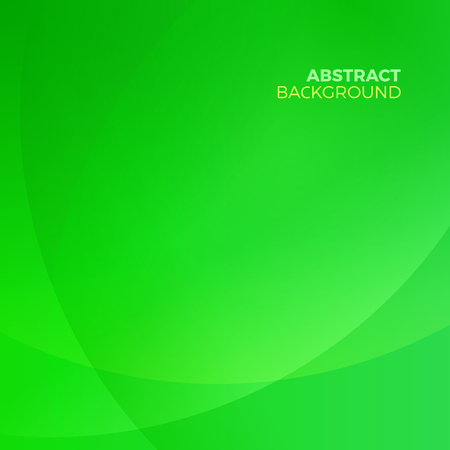 Green stylish abstract vector background with empty copyspace to enter your text. Curvaceous lines with blur gradient effect.
