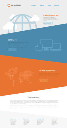Website Landing page design vector template. Webdesign layout. Фото со стока - 77688796