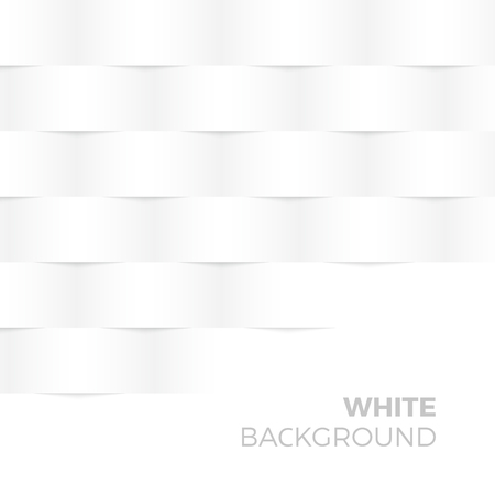 textured effect: White Abstract Shape and Textured vector Background with empty Copyspace to enter your text. Brick wall with 3d effect.